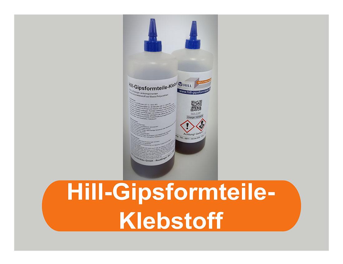 Hill-Gipsformteile-Klebstoff